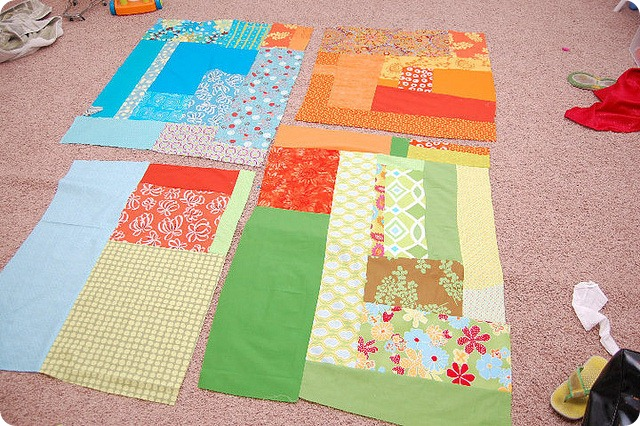 picnic quilt starting