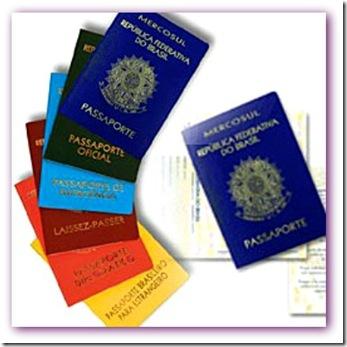 imagem de vários tipos de passaporte