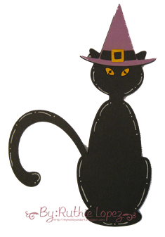 Cat svg - Platypus Creek Digitals - Halloween Card