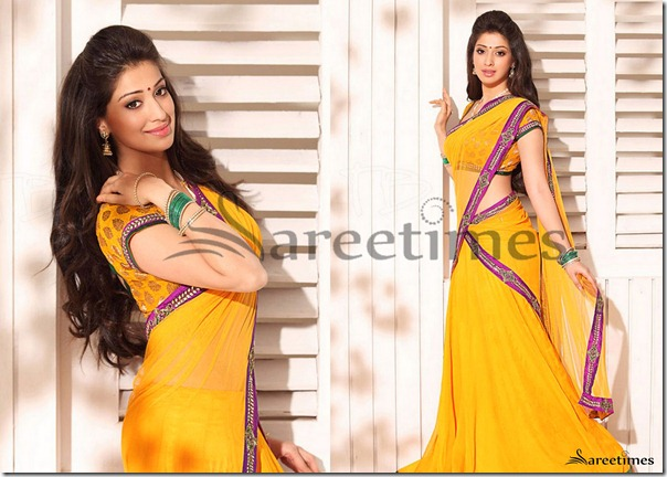 Lakshmi_Rai_Yellow_Half_Saree