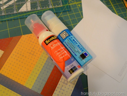 scotch quick dry adhesive and zig 2 way glue