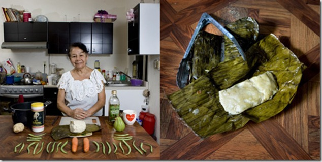 Laura Ronz Herrera, 81 years old, Veracruz, Mexico. Vegetarian Tamal