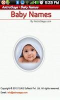 Screenshot of Indian Baby Names