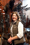 Margaret Hoskins, Badminton's new stable manager at home in her tack room