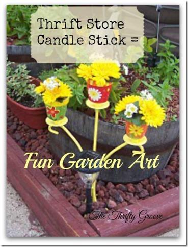 Candlestick Redo into Garden Art