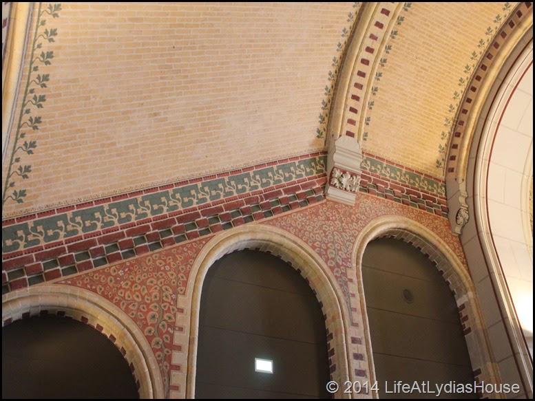Rijks Museum interior ceiling details