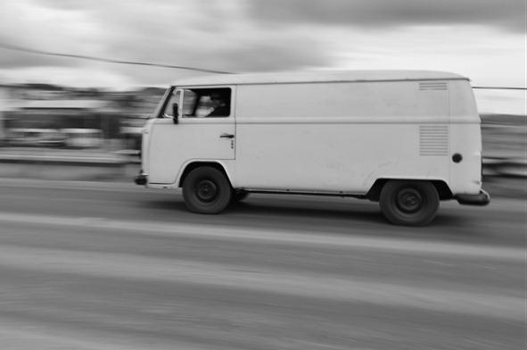 Carro em movimento rápida