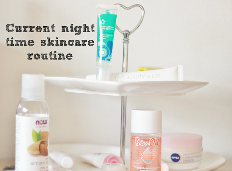 current night time skincare routine
