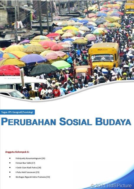 Cover Tugas Sosiologi: Perubahan Sosial Budaya