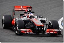 Button nelle prove libere del gran premio di Germania 2012