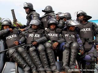 La police nationale Congolaise( PNC). Radio Okapi/ Ph. John Bompengo