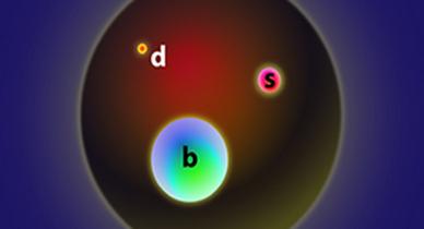 ilustração da partícula Ξb