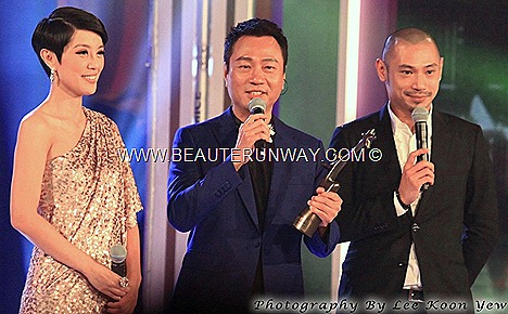 Starhub TVB awards 2012 winners Wayne Lai Yiu Cheung Hong Kong TVB actor My Favourite TVB Male TV Character Forensic Heroes Po Gwok Tung No regret Sheren Tang Shui-man TVB drama theme song singer Marina bay sands Singapore