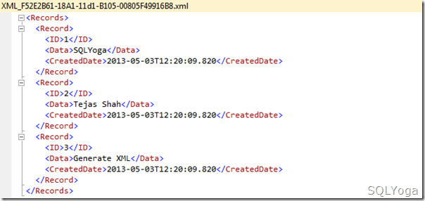 SQLYoga Resultset of XML PATH