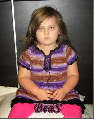 Sukienka Zuzy w pasy 001