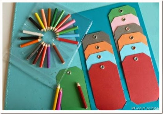 mini pencil gift tags
