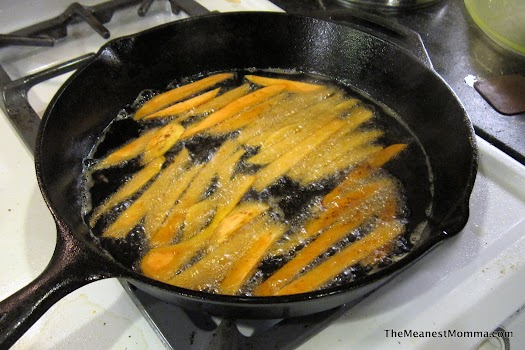 Sweet Potato Fries in the Skillet