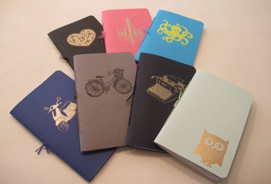 mini emobssed notebooks