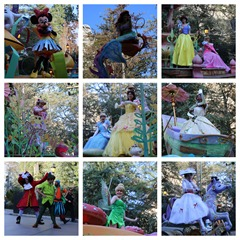 characters parade collage