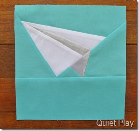 Paper pieced paper plane