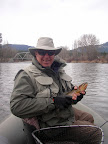 March 22, 2007 Jeff Davis  with a nice cutthroat from the Bitterroot River
