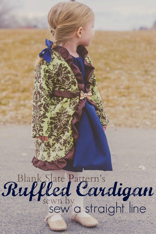 Ruffled Cardigan sew a straight line