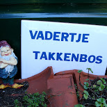 the name of the kitchen garden: vadertje takkenbos in Santpoort-Noord, Noord Holland, Netherlands