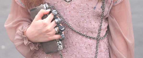 paris fashion week 2011 louvre sheer dress litas skull clutch street style fashion blogger (5)