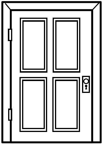 Dibujos de puertas para colorear for Como preparar una puerta de madera para pintar