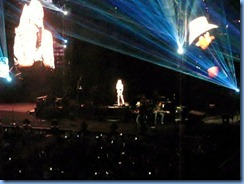 0742b Alberta Calgary Stampede 100th Anniversary - Scotiabank Saddledome - Brad Paisley Virtual Reality Tour Concert -Remind Me - Brad and a hologram of Carrie Underwood