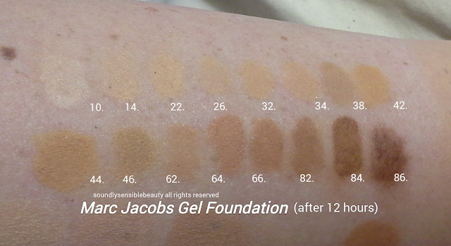 Marc Jacobs Super Charged Genius Gel Foundation, Oil Free; Review & Swatches of Shades