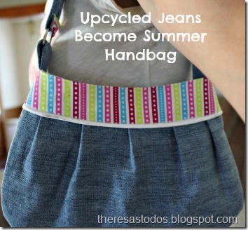 Upcycled Jeans Become Summer Handbag