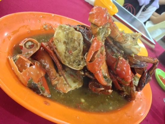 And the chilli crabs… Yum...