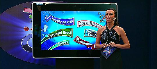 "Ana Paula Araújo no ""Estúdio Globeleza"" - Foto: Reprodução/TV Globo"