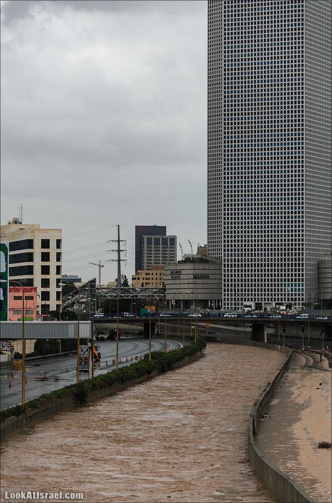 Сказ о том как одна маленькая, но гордая речка парализовала половину Израиля и весь Тель Авив (foto israel  фото тель авив и интересно и полезно дождь и снег  20130108 ta ayalon river 023 5D3 5678)