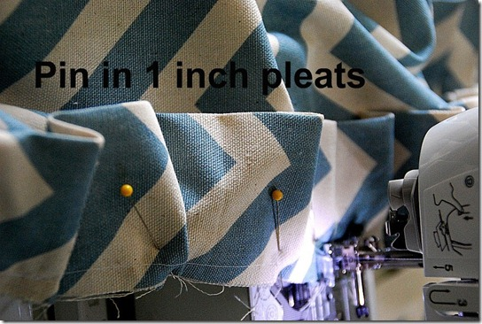 pin in 1 inch pleats
