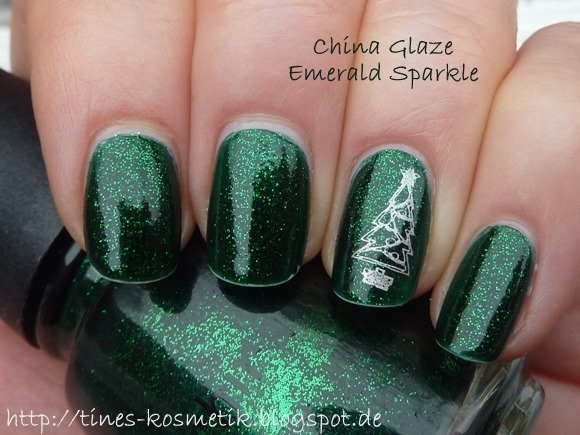 China Glaze Emerald Sparkle 1