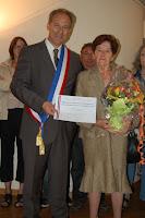 2011 - 14 juillet 2011 - remise médaille Mme MERCIER
