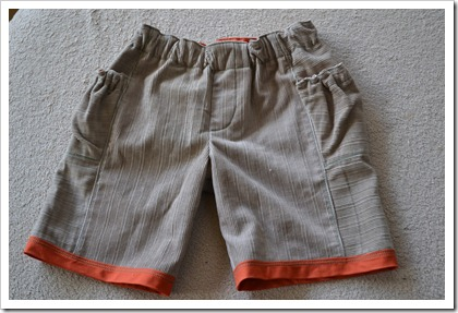 treasure pocket pants into shorts