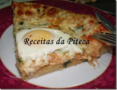 Pizza de peixe-fatia