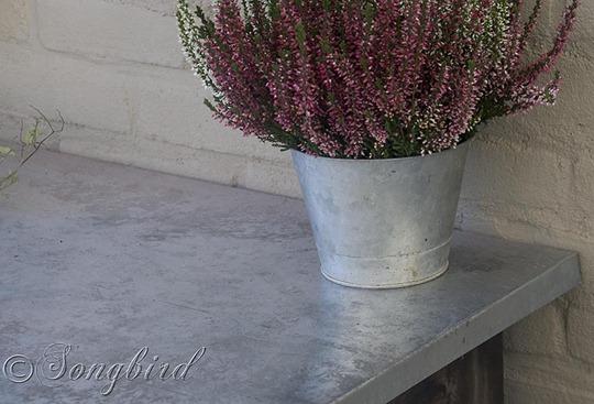 Garden Work Bench Galvanized Steel Finish