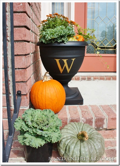 Monogramed Urn 