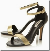 Dune Two-Tone Gold Sandal