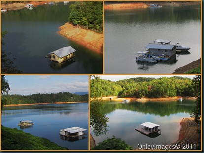 house boats collage
