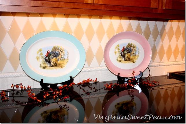 Turkey Platters in the Kitchen