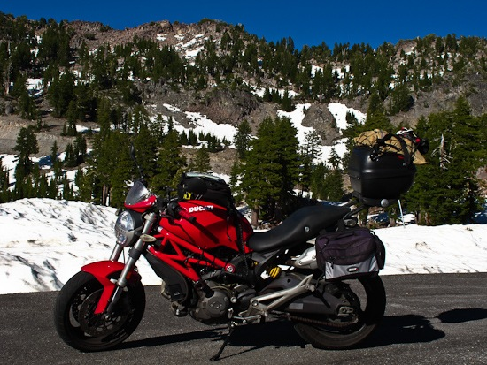 Ducati at Lassen Volcanic National Park