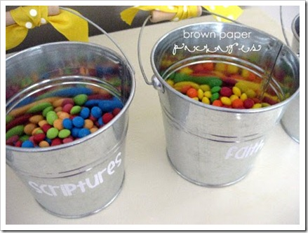conference buckets with candy