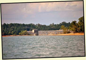 19k - Tuesday - Nottely Lake Kayak - View of Nottely Dam from the lake