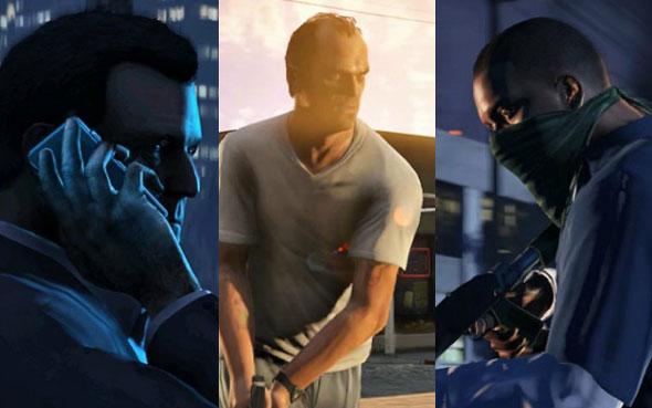Rockstar liberou o nome dos três personagens de GTA V, conheça a história de Trevor, Franklin e Michael.