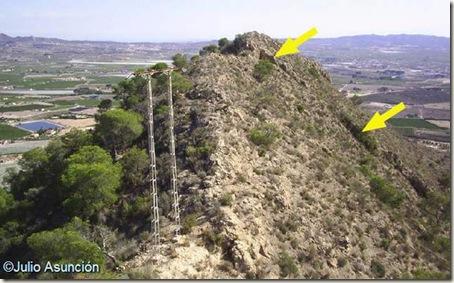 Cuevas de la Serreta Llarga - Ubicación de las cuevas desde el collado mirando hacia el sur